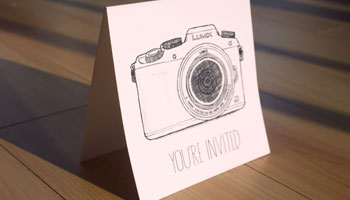 Panasonic Lumix, event invite.